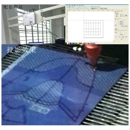 投影定位切割系统
